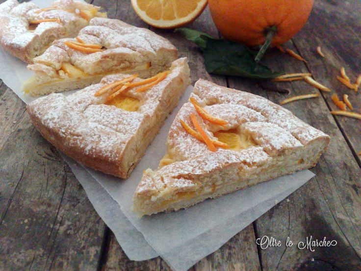 Crostata all'arancia e mascarpone