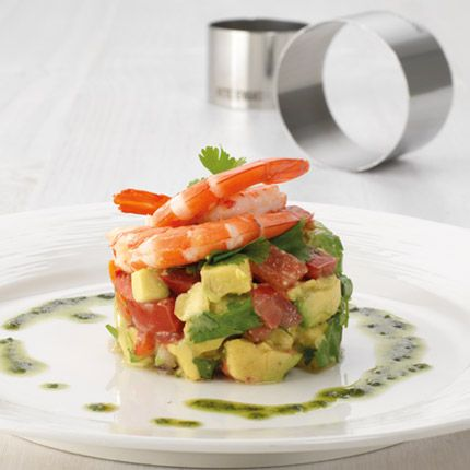 Prawn and Advocado Stack by Pete Evans