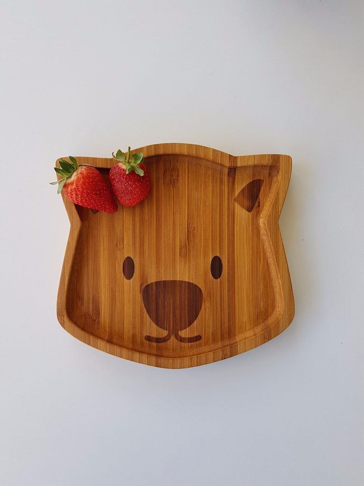 Bamboo Plate, Waldo the Wombat by Emondo Kids, buy at Thistle and Roo