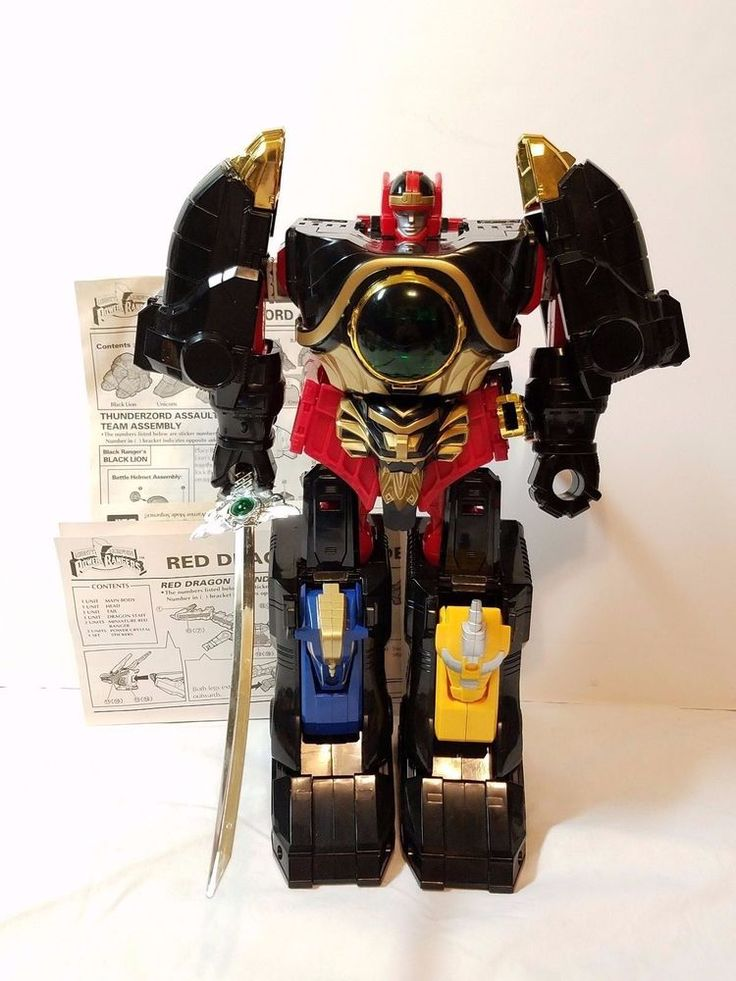 Ranger For Sale >> Power Rangers Thunderzord Megazord Red Dragon Thunder Zord 1994 Bandai Robot Toy…