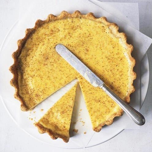 Custard Tart Recipe. A fantastic take on a British classic recipe. www.goodhousekeeping.co.uk