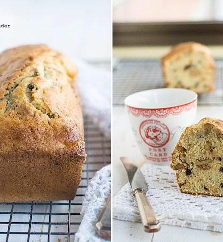 Receta de pan dulce de nueces y pasas