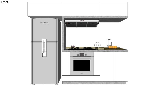 Cocina integral de dise o 3d warehouse sketchup for Programa para disenar cocinas integrales
