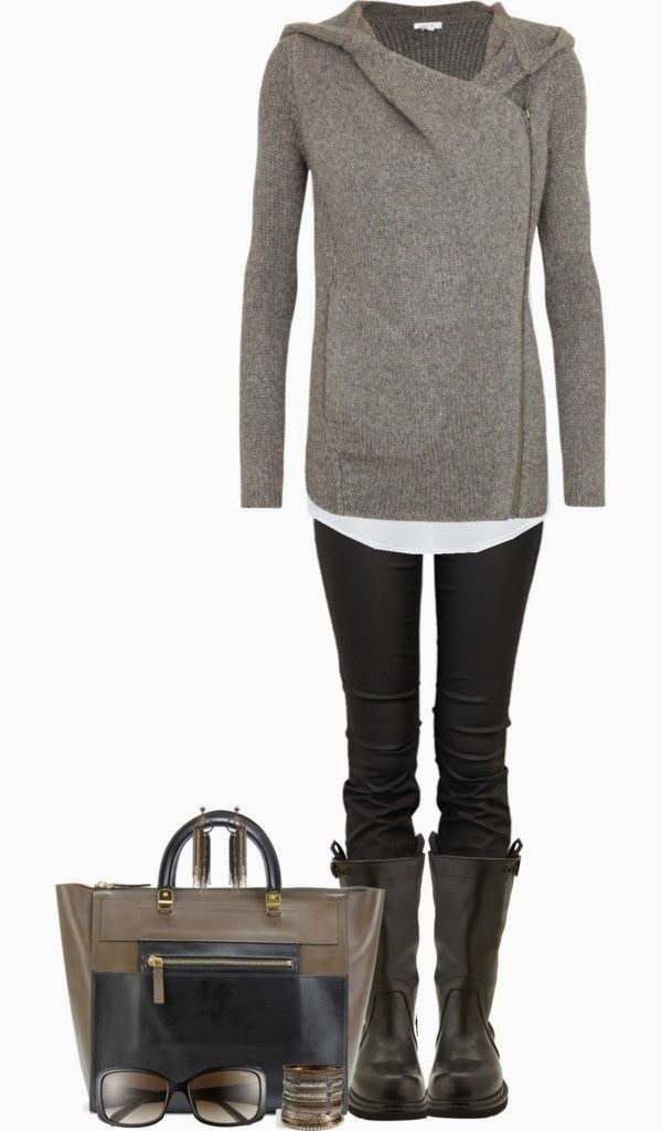 Lovely Fall Outfit!-I like it, not sure if I could pull it off. Really like the sweater.