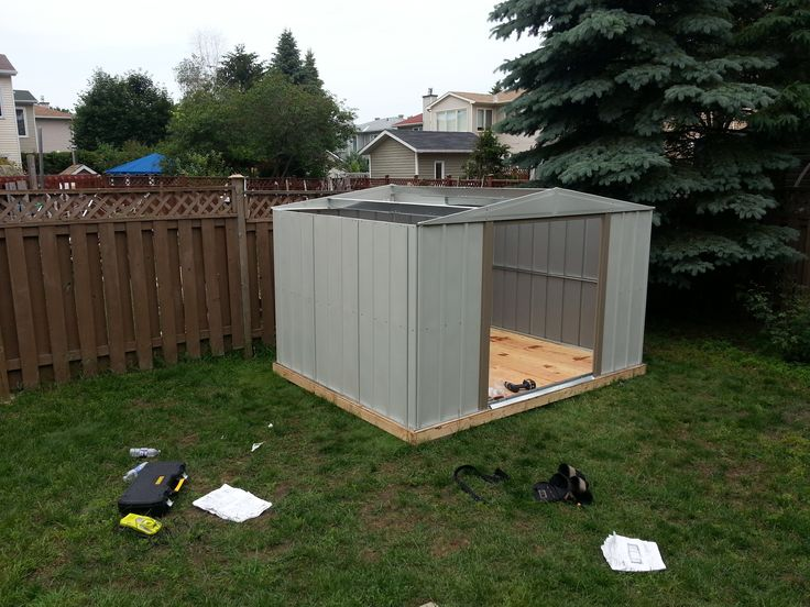 Steel Shed Assembly with Base