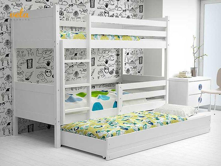 M s de 25 ideas incre bles sobre litera triple en for Literas de tres camas