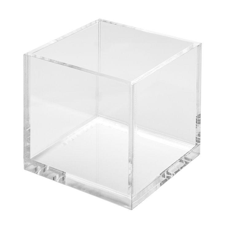 Acrylic Cube Cosmetic Organizer, Beauty Blender, Silisponge & Hair Accessories Holder