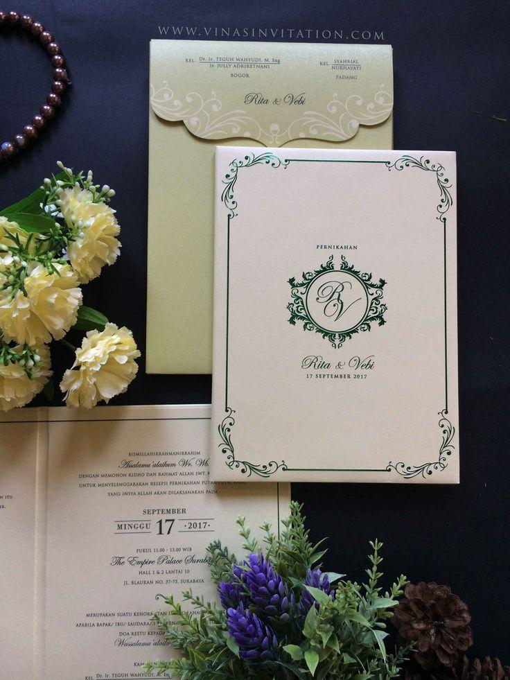 vinas invitation. custom wedding invitation. indonesian wedding. classic theme. classic invitation. hardcover. weddingcard. any question pls visit website www.vinasinvitation.com . courtesy of Rita & Vebi