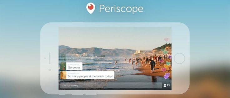 Con la nuova versione per iOS e Android, Periscope consente la trasmissione e la visualizzazione dei video in modalità landscape (orizzontale).