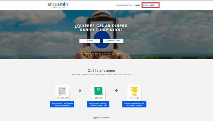 Encuestón es una nueva página de encuestas para España. Ha empezado fuerte, ya que al registrarte y sólo por rellenar todos los campos de tu perfil al completo, te dan 3 euros. https://www.encueston.com//registrate?Ref=LzcrTK