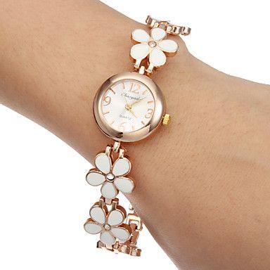 horloge van de vrouwen bloem armband legering band – EUR € 6.04