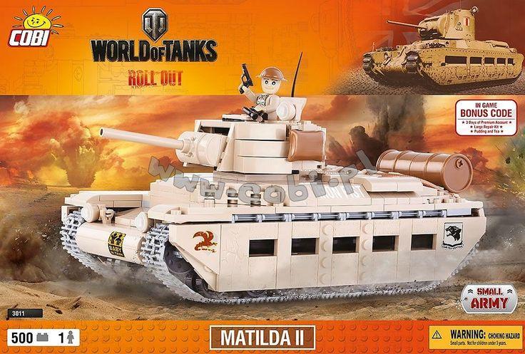 """Matilda II. Czołg nazywany """"Królową Pustyni"""". Najsilniej opancerzony czołg piechoty konstrukcji brytyjskiej z okresu II wojny światowej. Pierwszy czołg z silnikiem wysokoprężnym. Matylda była czołgiem o klasycznym układzie konstrukcyjnym. Wieża była obracana hydraulicznie lub ręcznie. Czołg był wyposażony w półautomatyczną 2 funtową armatę. Do zapewnienia łączności służyła zamontowana radiostacja."""