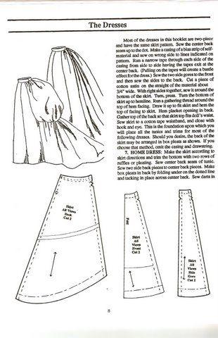 FREE bustled skirt pattern