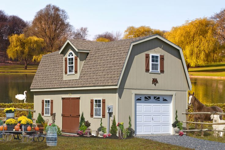 25 best single car garages from pa images on pinterest for Modular carriage house garage