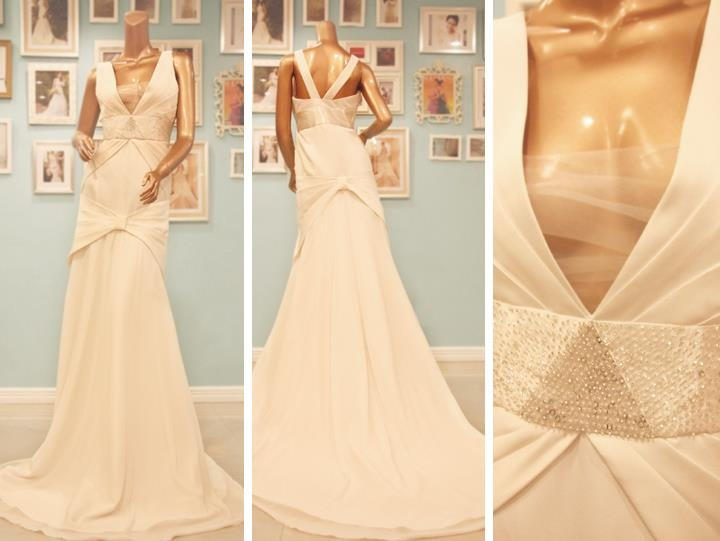 Soft wedding dress with 1920s / 1930s inspiration.