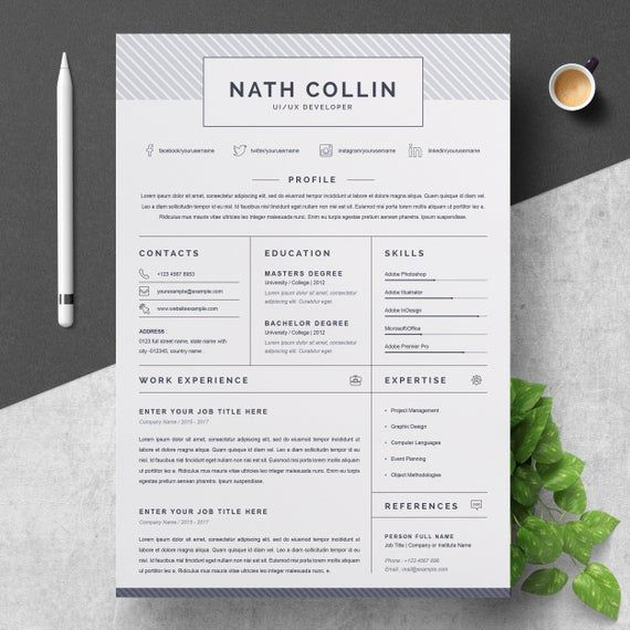 One Page Resume Cv Template One Page Resume Cv Template Creative Resume Templates