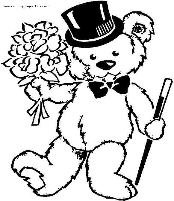 15 best Teddy bears colourung images on Pinterest | Colouring ...