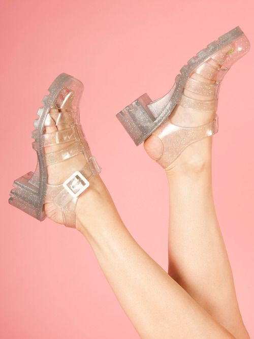 jelly sandals #jelly #shoes #glitter