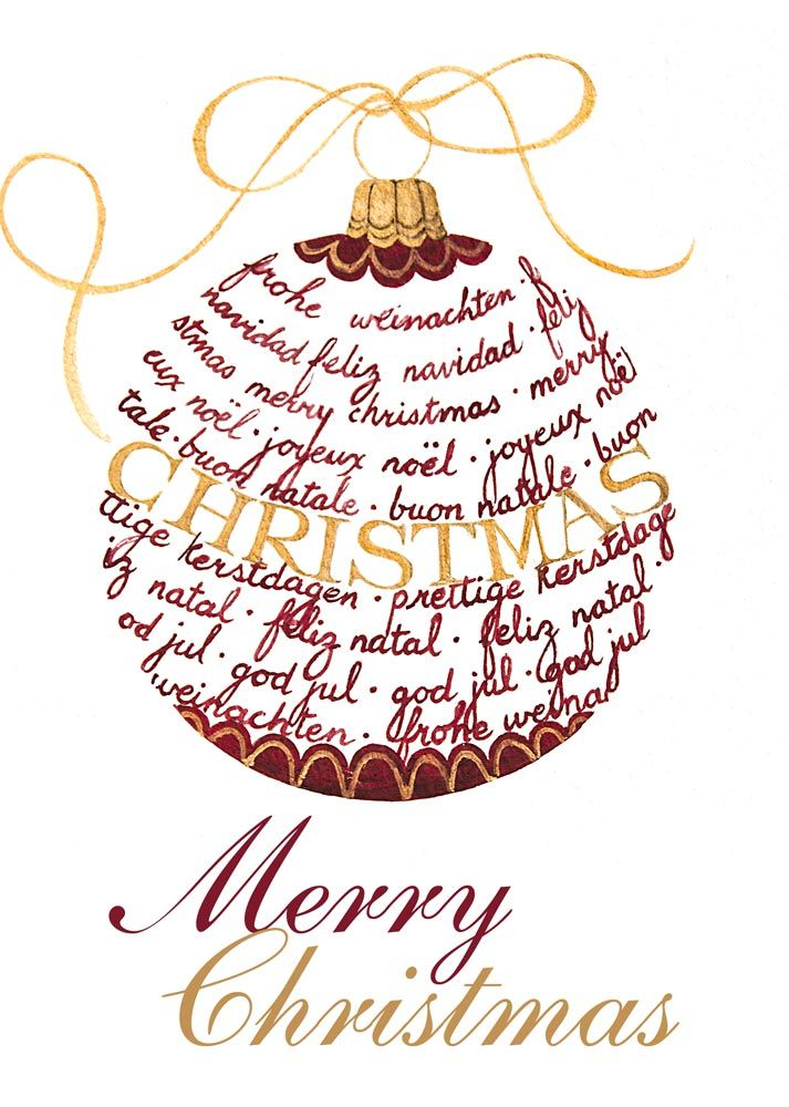 Merry Christmas Ornament Christmas Around The World