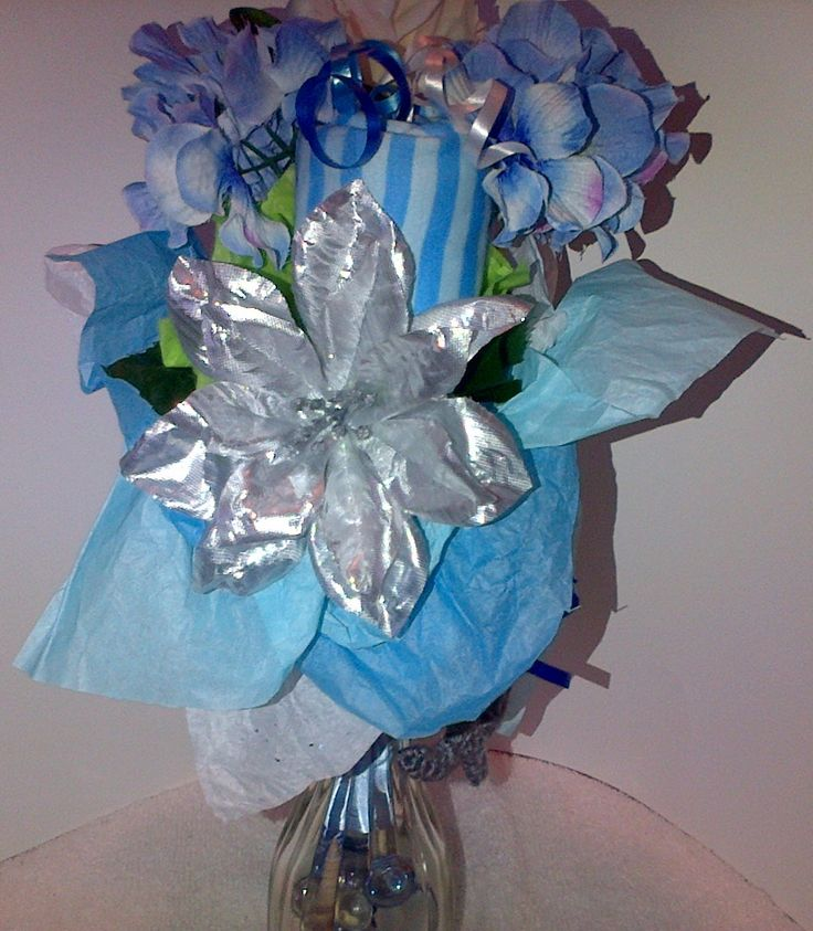 Back Close Up of a Small Onesie Bouquet