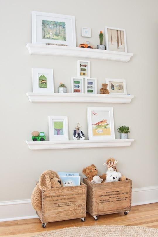Estanterías, librerías, baldas para cuartos infantiles