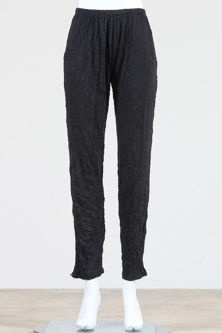 Comfy USA Long Narrow Pants, Crinkle