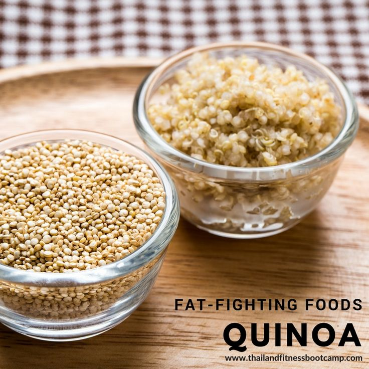 Are you planning to add some great healthy foods to your diet when you want to shed fat? Quinoa is a nutritional all-star that belongs in your weight loss plan. This whole grain has 8 grams of hunger-busting protein and 5 grams of fiber in one cup, and you'll also get iron, zinc, selenium, and vitamin E. Quinoa is as easy to cook as rice. For a quick dinner, mix in some vegetables, nuts, or lean protein.   #Fatburning #Fatfightingfoods #Superfoods #Quinoa #Weightloss  #BurnFats