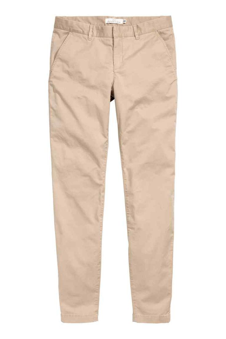 Chinos: Chinos in washed stretch cotton twill with a soft, brushed finish…