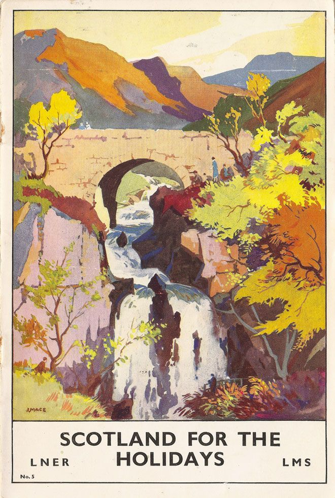 Gorgeous, colorful rail travel posters! It seems I must pin everything from Miss Moss.