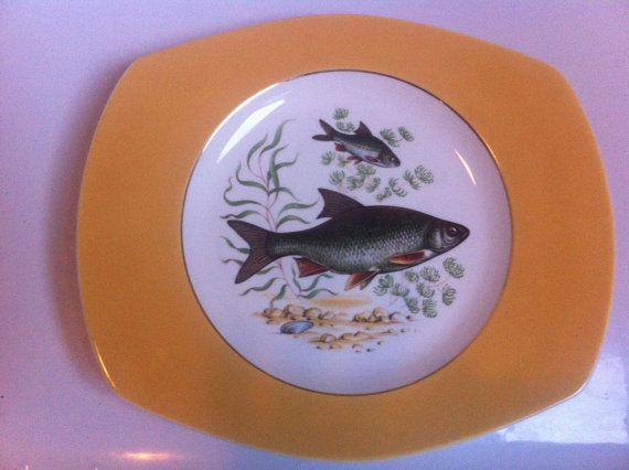 Figgjo Flint Norway light yellow plate No 8 by PopPopova on Etsy, £12.80