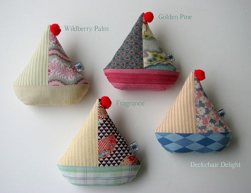 cute fabric boats