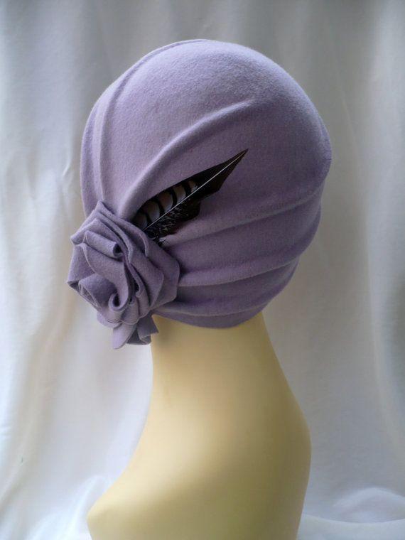 Cloche hat 20s hat 20s style hat Felt hat Wool by LidiaArtThings