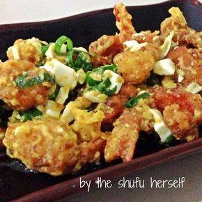Udang Goreng Telur Asin   food's divine
