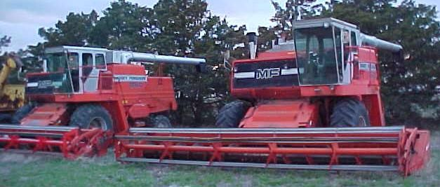 agco combines | Farm Equipment For Sale: (2) 1983 Massey Ferguson/AGCO 860 Combines