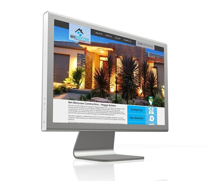 Website we designed for Ben Blencowe Construction. Designed by www.viadesign.com.au
