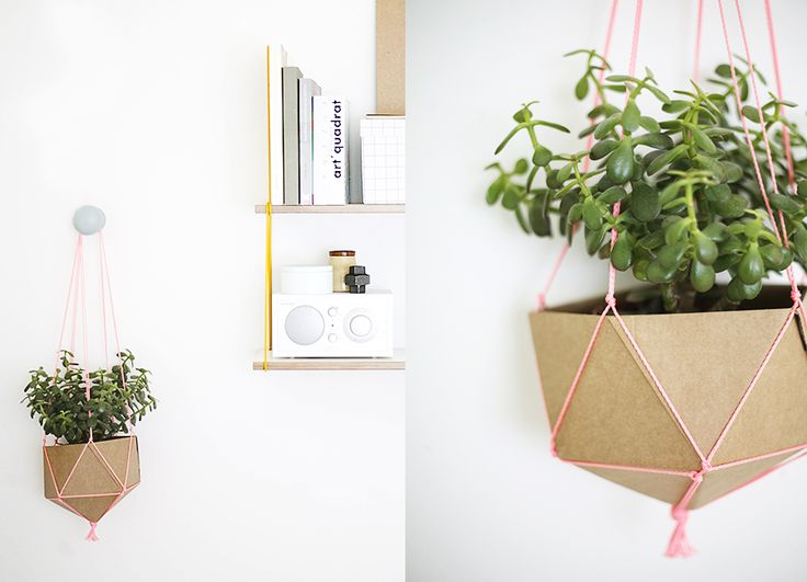DIY cardboard planter by Weekday Carnival. Photo credit: Riikka Kantinkoski