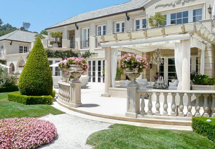Lisa Vanderpump's Beverly Hills French chateau-style mansion, designed by Richard Landry #HomeBuildersinFresno