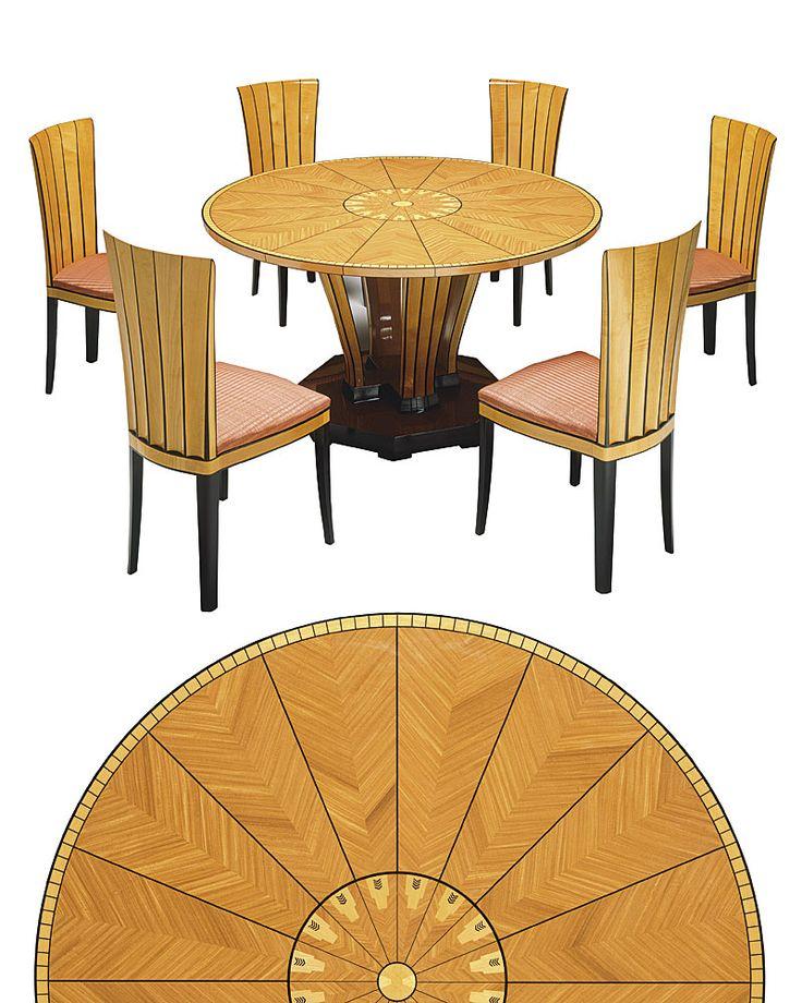 Saarinen House Side Chair and Dining Table, Cranbrook 1929-30 by Eliel Saarinen www.modern.fi