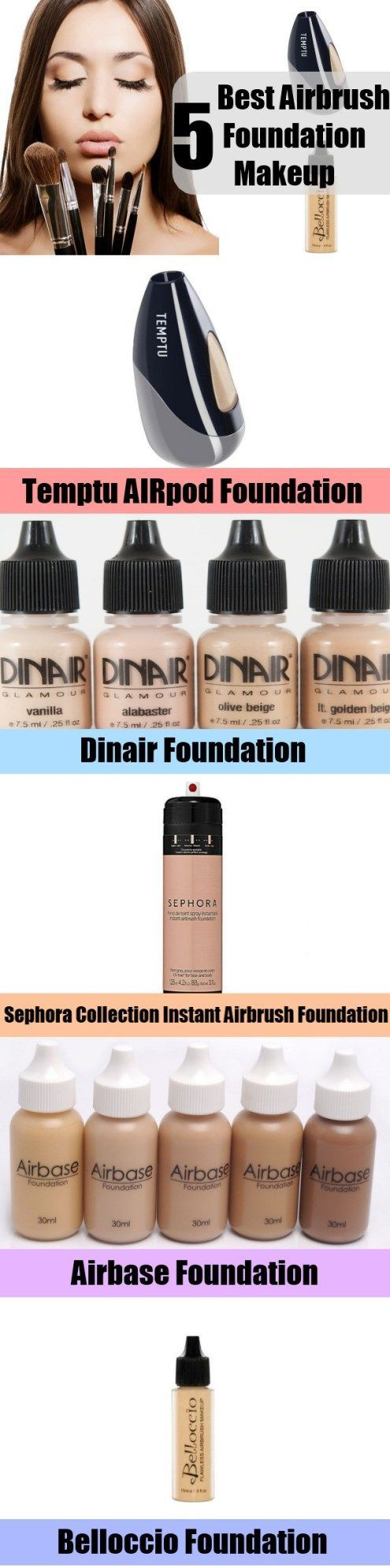 Best 5 Airbrush Foundation Makeup