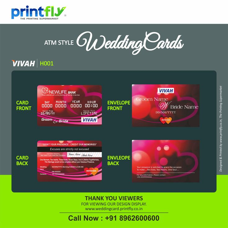 indian wedding cards wordings in hindi%0A ATM style wedding invitations cards are exactly like an ATM card  made of  PVC