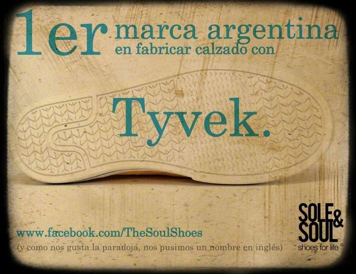 Primera marca argentina en realizar calzado con TYVEK. Sole & Soul.