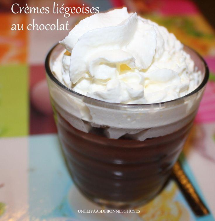 Crèmes liégeoises au chocolat (Recette au Companion Moulinex)