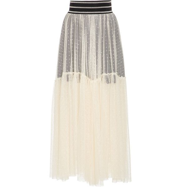 Smarteez Sheer Maxi Skirt (6.053.775 IDR) ❤ liked on Polyvore featuring skirts, print, overlay skirt, transparent skirt, print maxi skirt, see through skirt and sheer overlay skirt