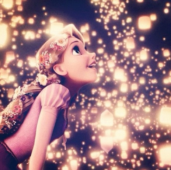 """Tangled... """"May your eyes get wide as you look at the stars with the same sense of wonder as a child's heart"""" <3"""