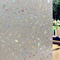 Lifetree Fensterfolie Sichtschutzfolie Statisch Folie Selbstklebend 90*200cm