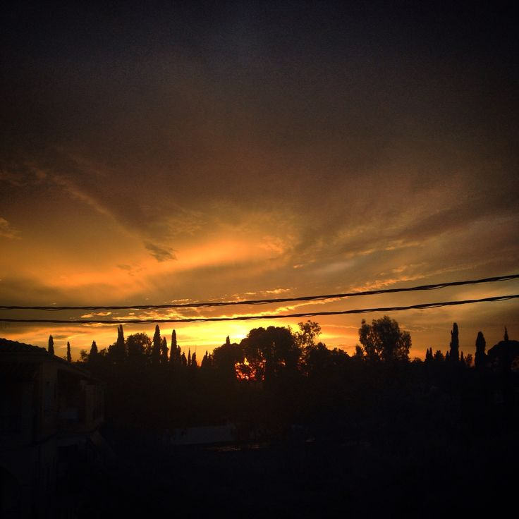 Sunset from my balcony. Love corfu.