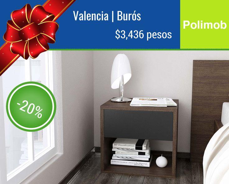 """""""Este 9 de Diciembre Polimob te regala 20% de descuento en nuestro Buró - Valencia!  Disponible en 3 acabados. Recíbelo en 10 días en el siguiente link: <<< http://www.polimob.com.mx/products/valencia >>> -- #25diasdePolimob #navidad #muebles #descuento #tienda #bauhaus #df #polanco #santafe #reforma #lacondesa"""