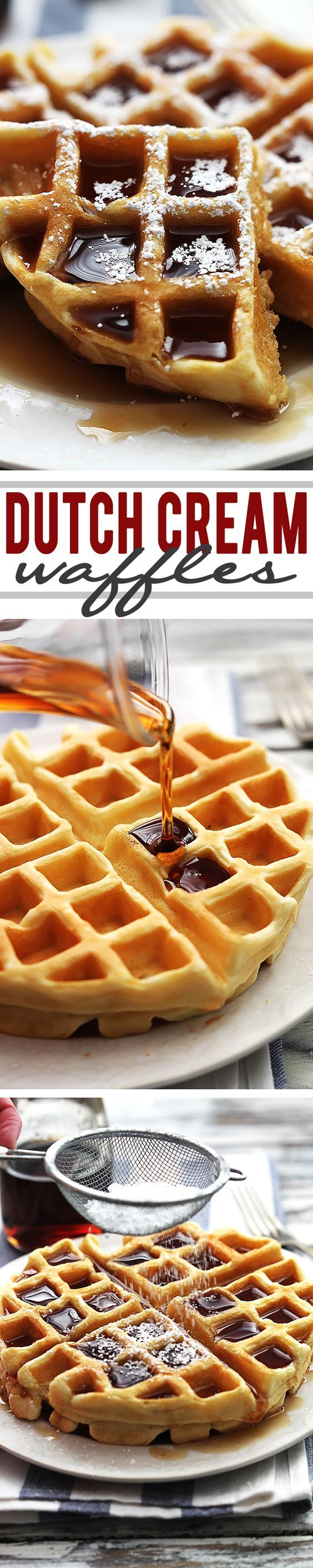 Super fluffy and rich dutch cream waffles – JUST 4 INGREDIENTS!:
