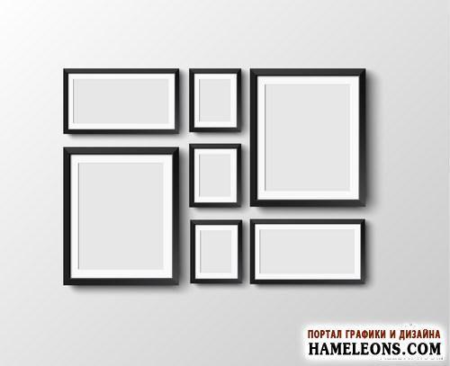 В векторе пустые рамки для картин | Set of frames
