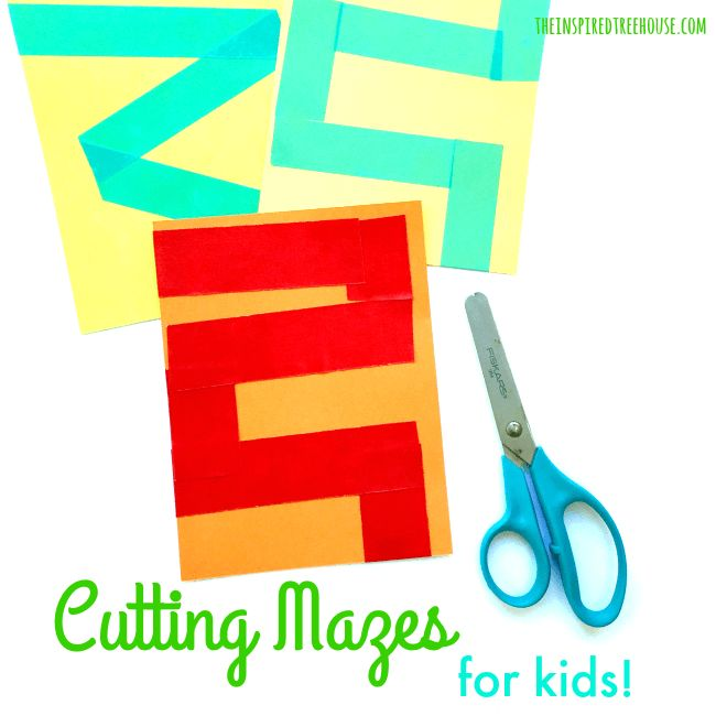 The Inspired Treehouse - Cutting Mazes for Kids! Kids will love using mazes to practice their cutting skills!